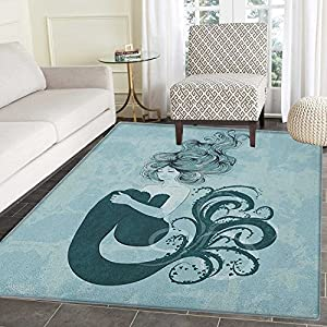 61pS%2BuYA65L._SS300_ 50+ Mermaid Themed Area Rugs