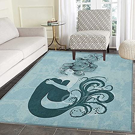 61pS%2BuYA65L._SS450_ 50+ Mermaid Themed Area Rugs