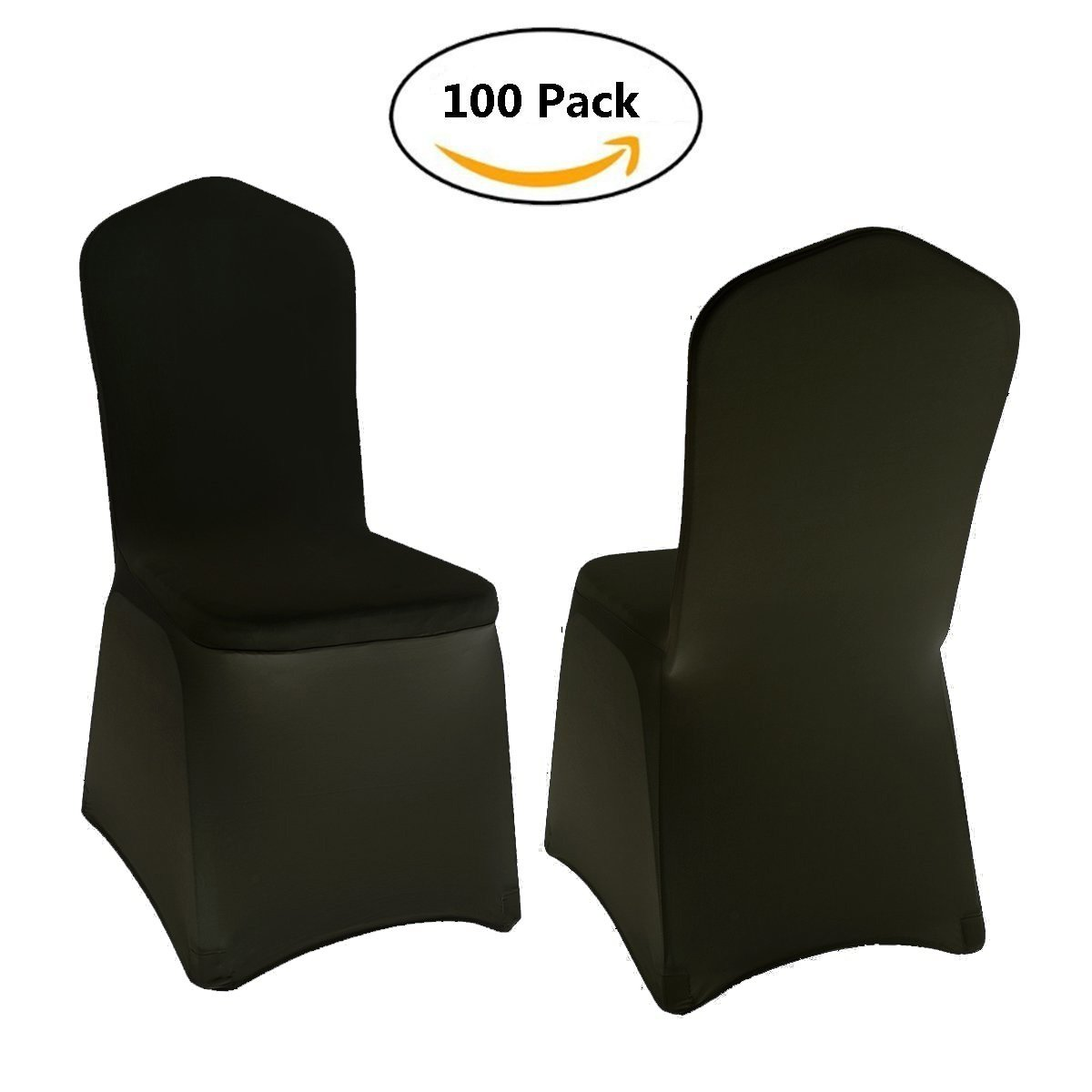 Stretch Polyester Spandex Dining Chair Cover Including 4 x Elasticated & Rugged Pockets for Wedding or Party Use