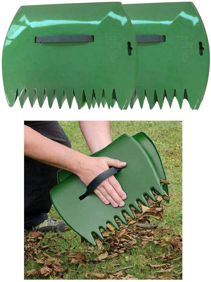 1 Pair Lawn Claws, Hand Rakes for Picking Up Leaves, Leaf Scoops Hand Rakes for Lawns and Garden Clean Up Heavy Duty, Multiple Use Rake for Leaves, Lawn Debris and Trash Pick Up, Large Sized Good Use