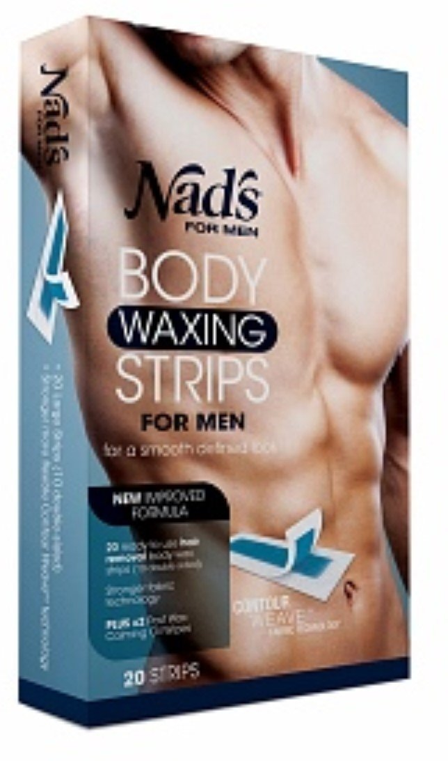 Nad's for Men Body Waxing Strips 20 ea by NAD'S