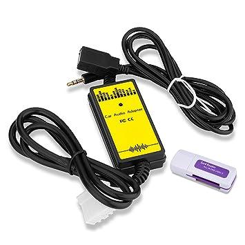 kkmoon KFZ-USB AUX Adapter Interface Radio MP3-Player f/ür MAZDA 323//3//5//CX7//MX5//MPV//Miata