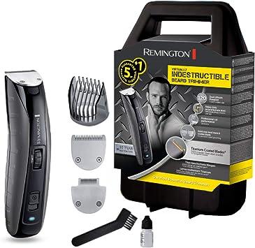 Remington MB4850 Virtually Indestructible - Recortador de barba, cuchillas revestidas de titanio, cuerpo de policarbonato, corte de calidad profesional 350 mm/s: Amazon.es: Salud y cuidado personal