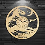 Godzilla Wooden Clock, Jurassic Park Wood Clock, Godzilla Clock, Wall Clock Vintage, Gift For Boy, Movie Wooden Clock, Wall Clock Modern, Jurassic World Gift For Kids, Godzilla Birthday Gift