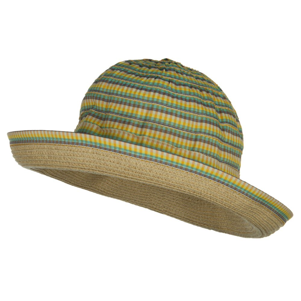 Girls UPF 50 Plaid Tweed Bucket Hat