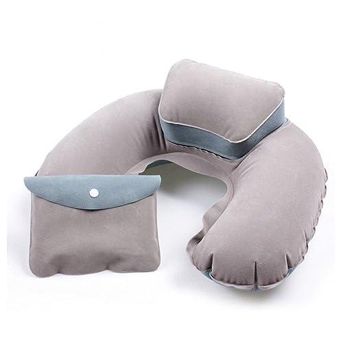 5 opinioni per BlueBeach® Cuscino da viaggio gonfiabile sonno extra confortevole e Soft Neck