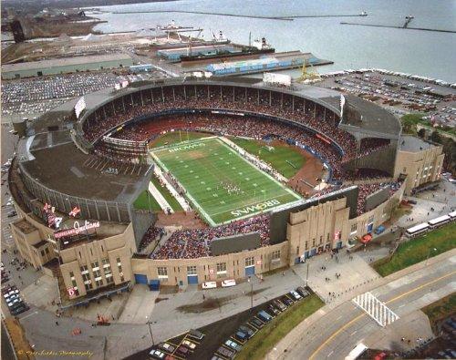 Cleveland Municipal Stadium Double Matted 8