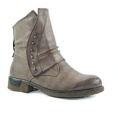 Schuhtraum Damen Worker Stiefeletten Stiefel Boots Biker Outdoor (36, ST936  Khaki gefüttert) e40371f176