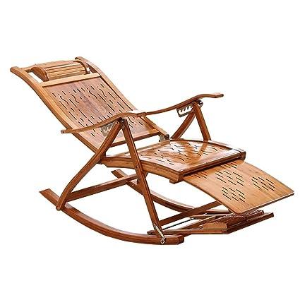 Bseack_Store Silla Silla Mecedora, de bambú, Plegable ...