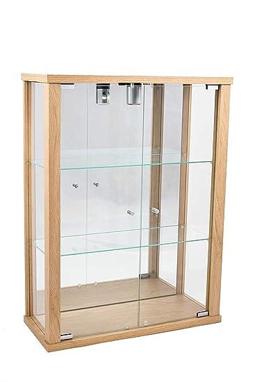 K-Möbel Glashängevitrine Glasvitrine Spiegel Beleuchtung ...