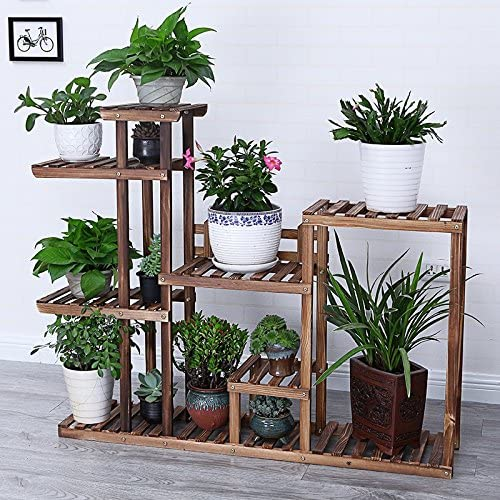Estantes de flores de madera Estante de planta de jardín para estantes de plantas Estantes de estantes / Estante de estantes jardín Estantería interior o exterior para sala de estar 130x25x100cm: Amazon.es: