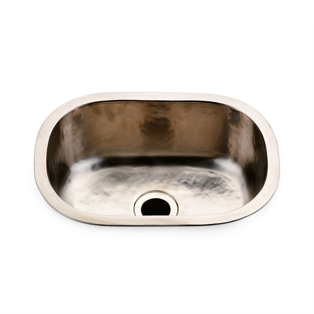 Waterworks Normandy Hand Hammered Bar Sink in Chrome by Water Works