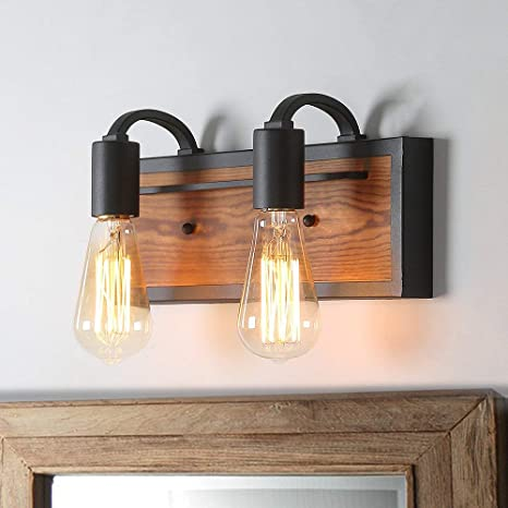 huge discount 9d02f b9722 LNC Bathroom Lighting Fixtures Over Mirror Farmhouse Vanity Sconce Rustic  Wall Lamp, A03439
