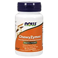 NOW Supplements, ChewyZymes, Broad Spectrum Chewable Enzymes, Berry Flavor, 90 Chewables