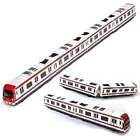 Modelo del tren, 4pcs Juguete del coche fijó