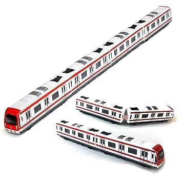 Modelo del tren, 4pcs Juguete del coche fijó el modelo del ...