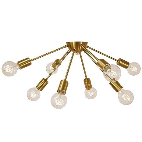 Amazon.com: Sputnik Chandelier - Lámpara de techo con 10 ...