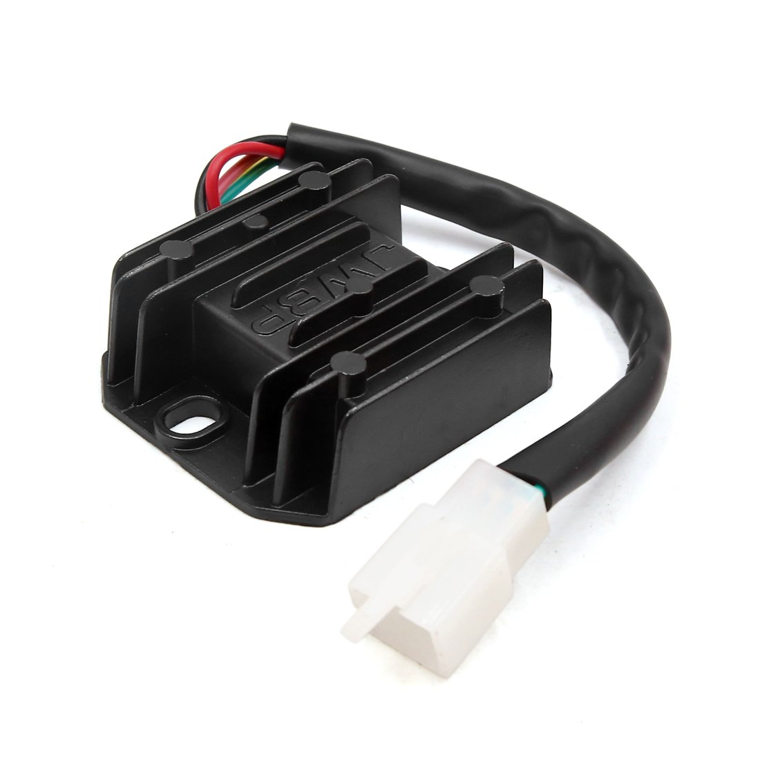 uxcell 5 Terminals Black Metal Motorcycle Voltage Wiring Regulator Rectifier for ZJ-125