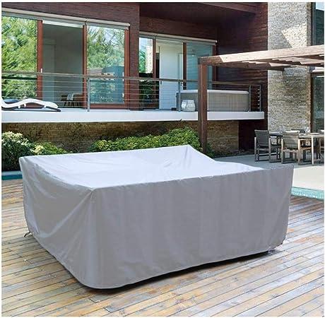 AGLZWY Funda for Muebles De Jardín A Prueba De Polvo Impermeable Reutilizable Mesas De Ratán Sillas Sofá Cubierta Mueble Mesas, Gris, 28 Colores (Size : 1x0.5x0.5m): Amazon.es: Hogar