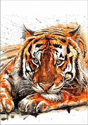 (7Dots Art. Wild Animals. Watercolor Art Print, Poster 8