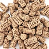 "Tebery #8 Natural Wine Corks Premium Straight Cork Stopper 7/8"" x 1 3/4"", Excellent for Bottled Wine - 100 Count"