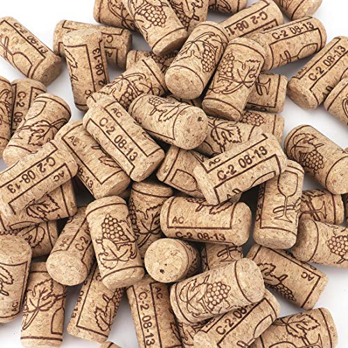 Tebery #8 Natural Wine Corks Premium Straight Cork Stopper 7/8quot x 1 3/4quot Excellent for Bottled Wine  100 Count