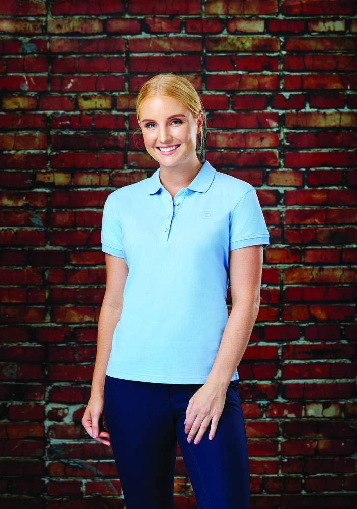 Powder Blue Dublin Ara Womens Short Sleeve Polo