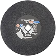 "Walter Chopcut Performance Cutoff Wheel, Type 1, Round Hole, Aluminum Oxide, 14"" Diameter, 3/32"" Thick, 1"" Arbor, Grit A-30-HC Plus (Pack of 10)"