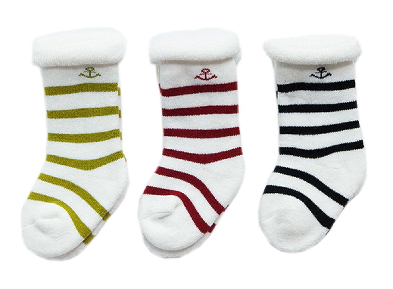 Xiang Ru Baby Mädchen Junge Winter 3 Paar Socken Wintersocken Füßlinge Babysocken In 3 Größen AA171228219