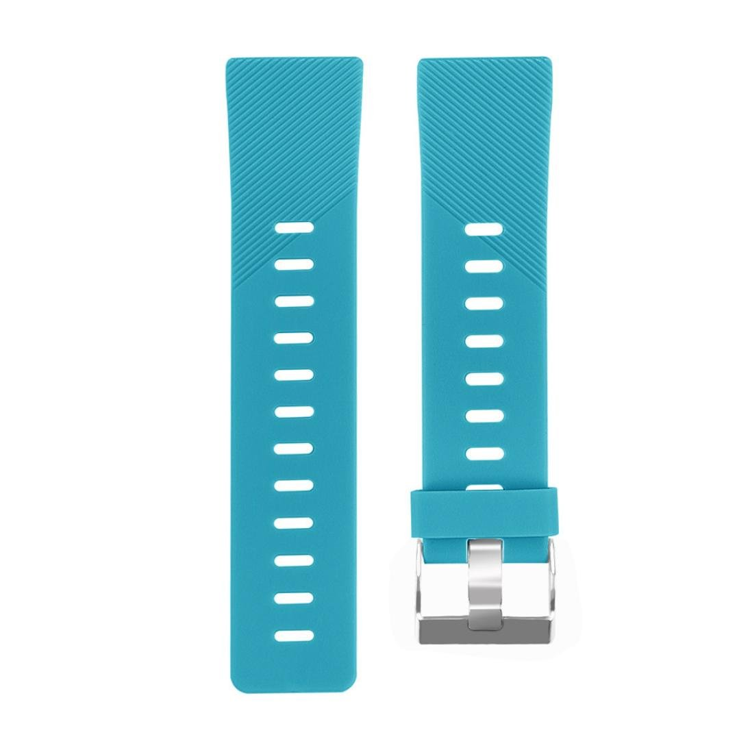 Lovewe Replacement Fashion Sports Twill Silicone Bracelet Strap Band For Fitbit Versa 228mm (Mint Green)