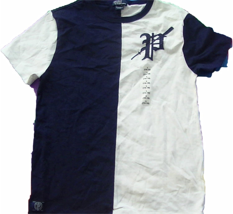 RALPH LAUREN Boys Two Tone Jersey Shirt Large 14-16
