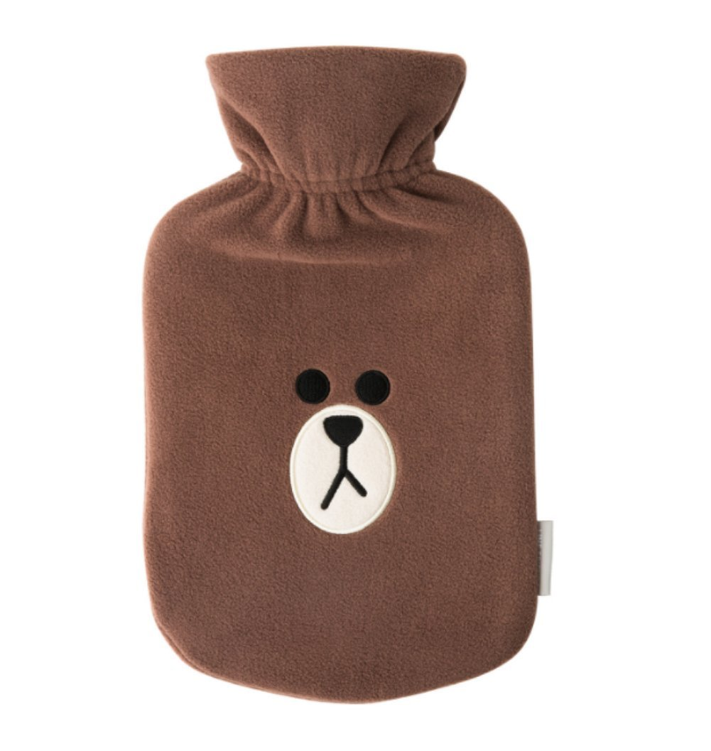 LINE FRIENDS Brown Hot Water Bottle Pack One Size Brown