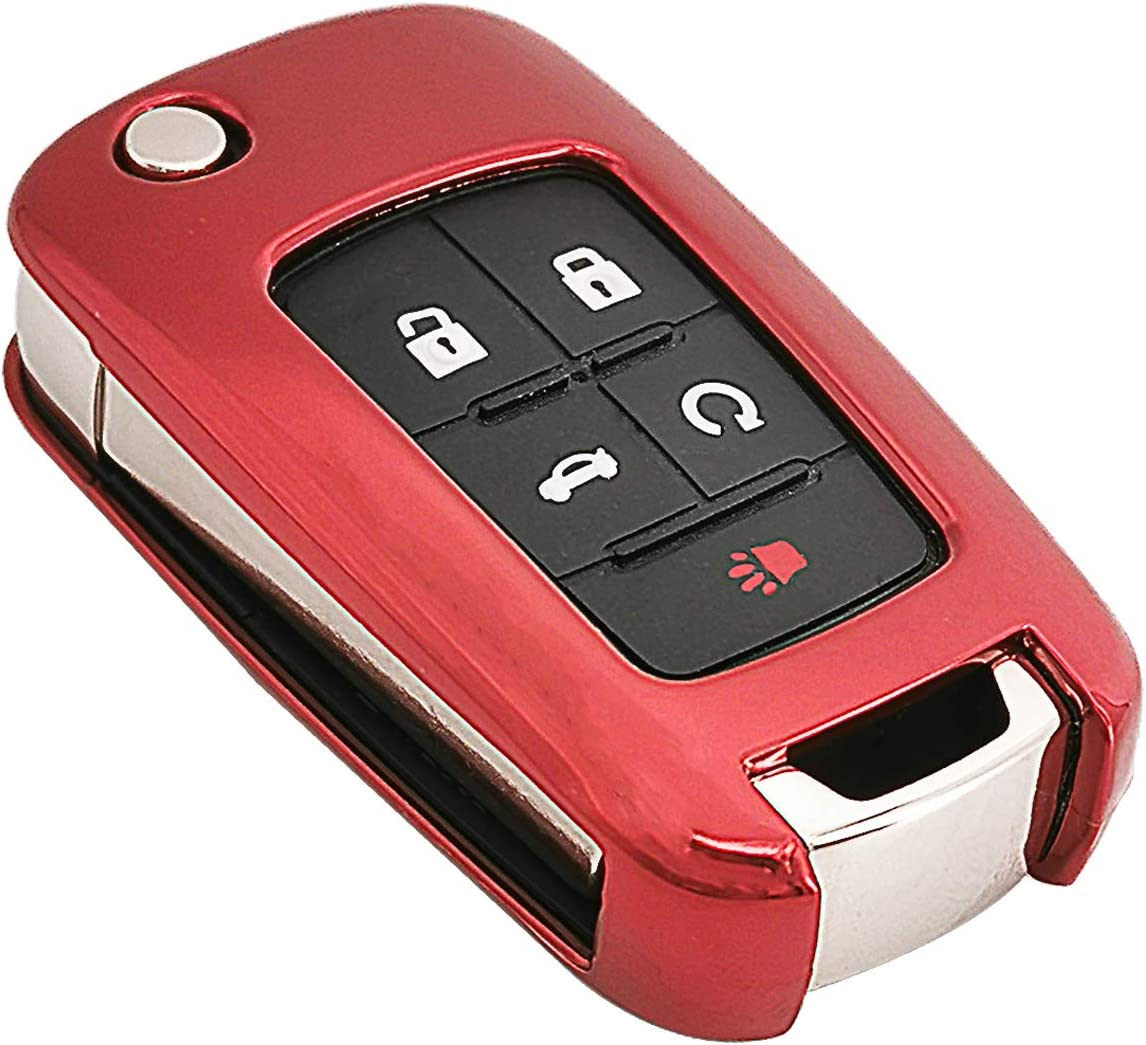 TPU Key Fob Cover Case Jacket for Chevy Chevrolet