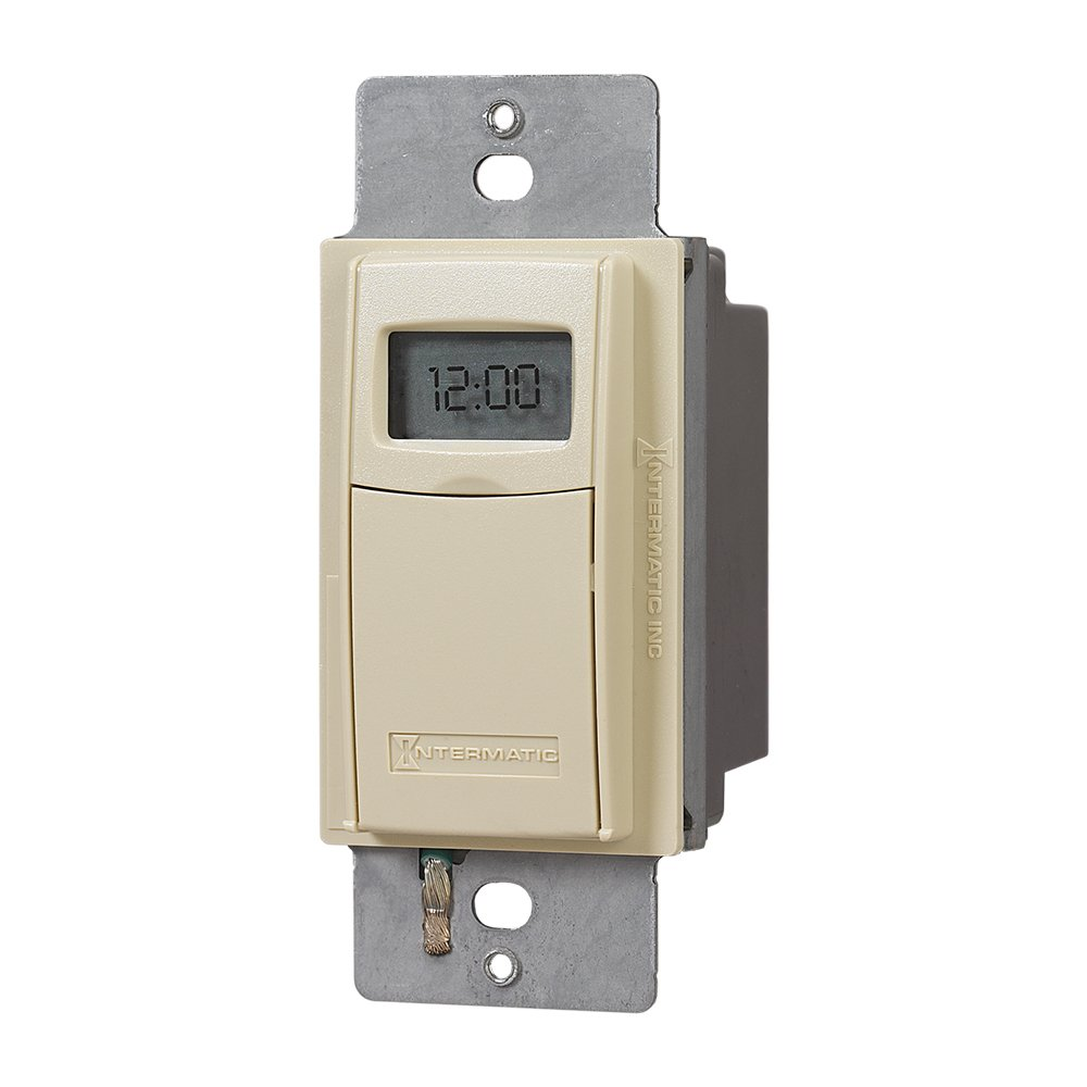 Intermatic EI400C Programmable Electronic Countdown In-Wall Timer, Ivory