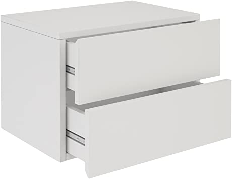 idimex table de chevet blanc laqué