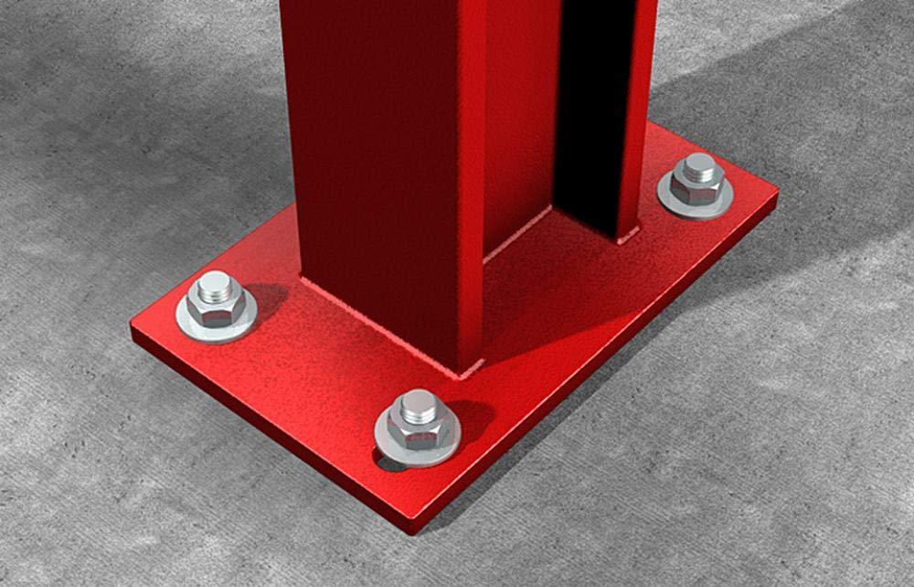 Art.-Nr Balkenverankerungen in Beton mit Zulassung 502532 verzinkt 20 St/ück Bolzenanker zum Befestigen von Ankerplatten mit Langl/öchern fischer FAZ II 12//100 GS
