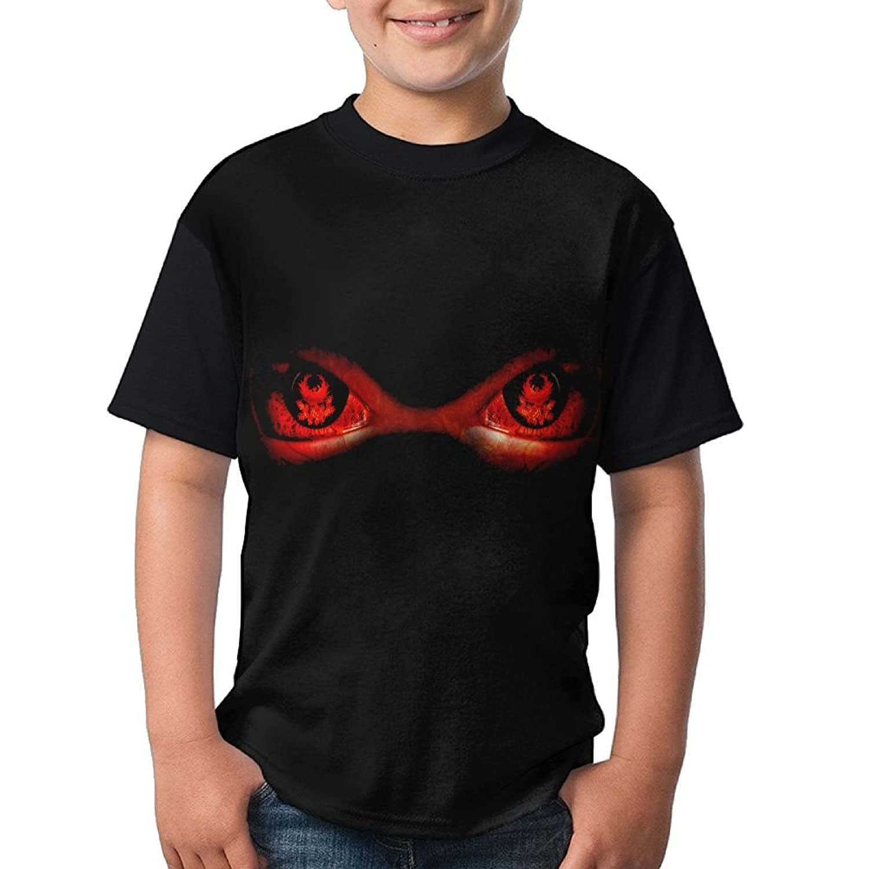 hot sell Teenage T Shirt Evil Red Eyes Retro Black Tee