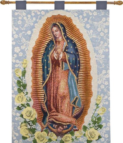 - Manual Inspirational Collection 26 X 36-Inch Wall Hanging and Finial Rod, Our Lady of Guadalupe