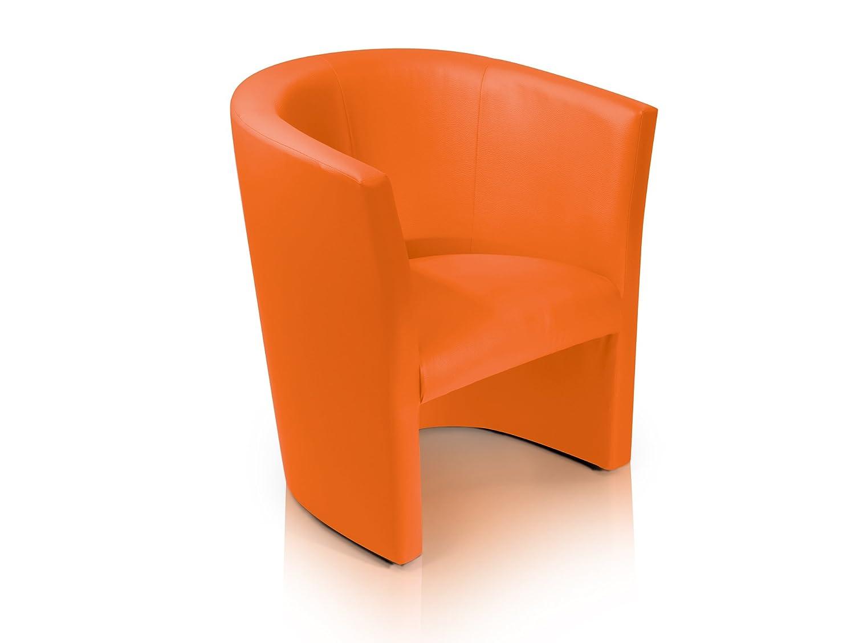 moebel-eins CHARLY Cocktailsessel Polstersessel Sessel Polsterstuhl Stuhl in orange, orange Möbel-Eins