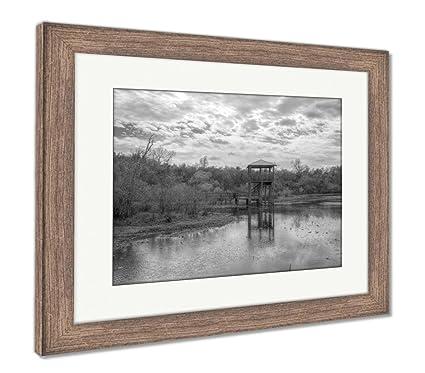 Amazon.com: Ashley Framed Prints White Lake at Cullinan Park in ...