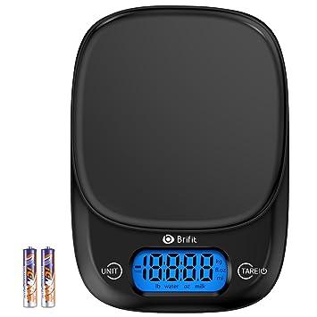 Báscula de cocina digital Brifit, 5 kg de peso, agua de pesaje precisa,