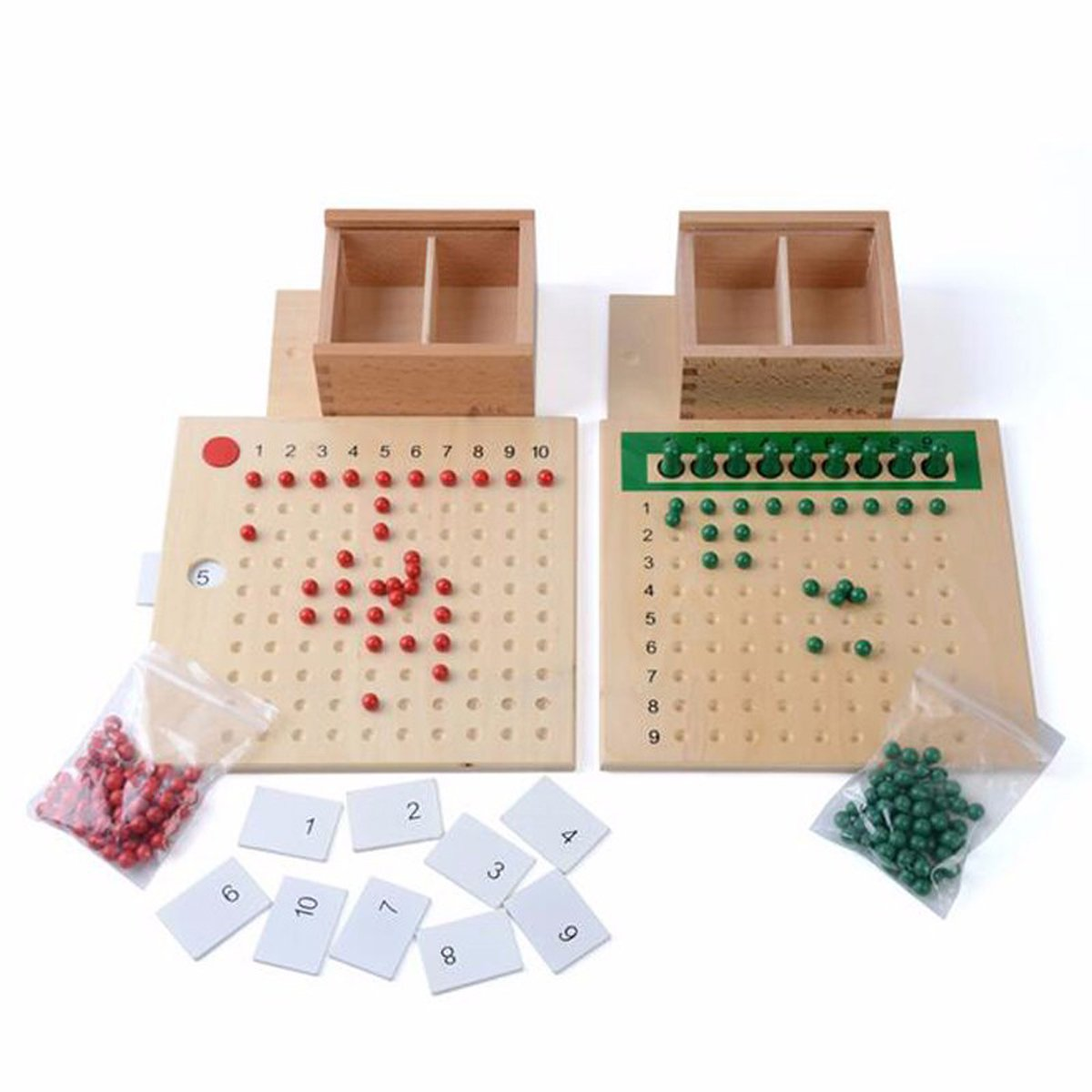 Montessori Material Boxed Arithmatics Teaching Aids Educational Wooden Toys For Children Learning Multiplication and Division Mathematics Tools