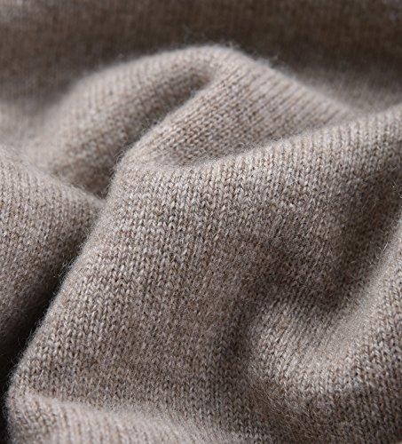 Zhili Frauen V-Ausschnitt Kaschmir Pullover Pullover Braun iaUYwsdl