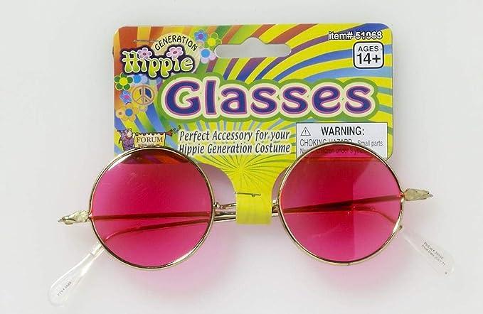 Amazon.com: Adultos Hippie Generación 60s 70s Rosa Lense ...