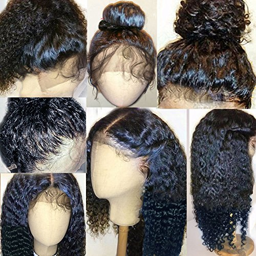 Thriving Hair 7A Full Lace Human Hair Wigs for Black Women Curly Brazilian Virgin Hair Lace Front Human Hair Wigs Glueless Full Lace Wigs with Baby Hair(12inch with 130% density, lace front (Wigs For Black Women)
