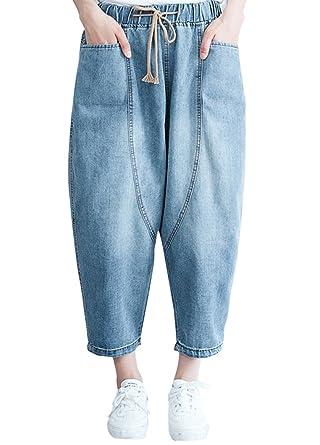 Amazon.com: congcong - Pantalones vaqueros para mujer con ...