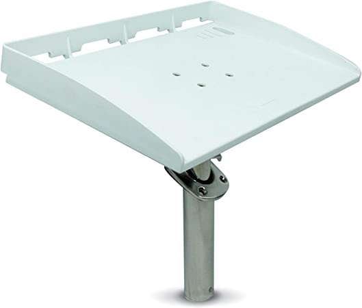 Five Oceans White Bait/Fillet Serving Cutting Board Table Rod Holder Mount w/Plier Storage and Knife Slots, 20