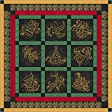 Quilt Kit Christmas Elegance/Pre Cut Ready To Sew/Finished Embroidery