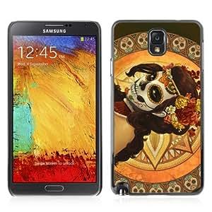 YOYOSHOP [Beautiful Girl & Sugar Skull Art] Samsung Galaxy Note 3 Case hjbrhga1544