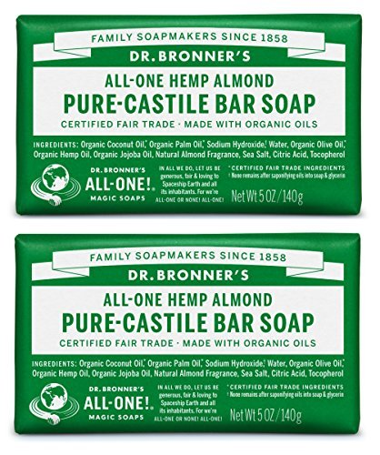 (Dr. Bronner's Pure-Castile Bar Soap - Almond, 5oz, 2 pack)